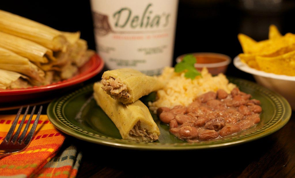 Delia's Tamales Chicken in Green Salsa